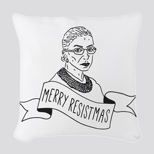 Merry Resistmas - Holiday for Woven Throw Pillow