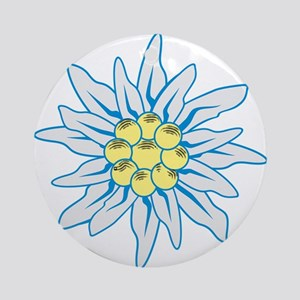 Edelweiss Round Ornament