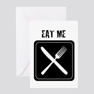 Cuisine types greeting cards cafepress eat me greeting card m4hsunfo