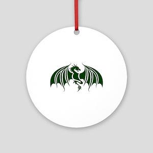green dragon Round Ornament