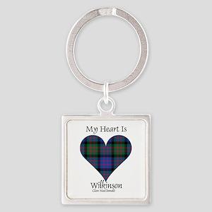 Heart-Wilkinson.MacDonald Square Keychain