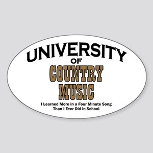 U of Country Music Oval Sticker