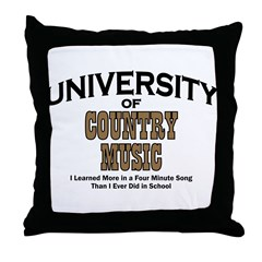 U of Country Music Throw Pillow