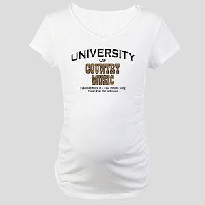 U of Country Music Maternity T-Shirt