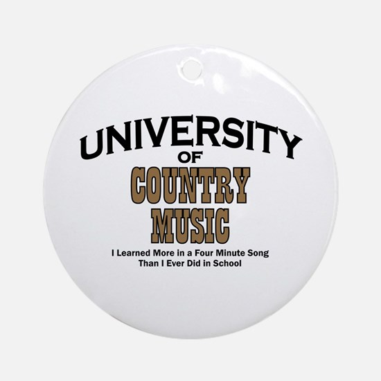 U of Country Music Ornament (Round)