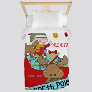 Alaska North Pole Sleigh Rides Twin Duvet