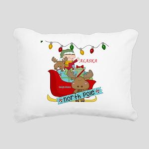 Alaska North Pole Sleigh Rectangular Canvas Pillow