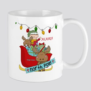Alaska North Pole Sleigh Rides Mugs