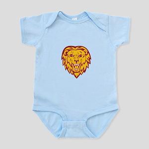 Angry Lion Big Cat Head Roar Body Suit