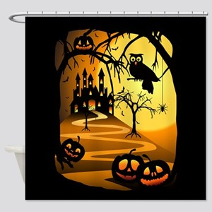Halloween Castle Shower Curtain