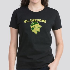 Be Awesome (Visor Coolguy) Black T-Shirt