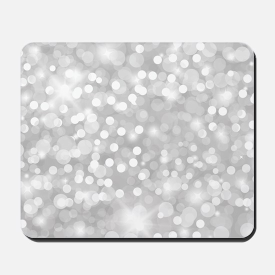 Silver Glitter Mousepad