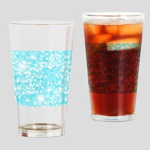 Blue Glitter Drinking Glass