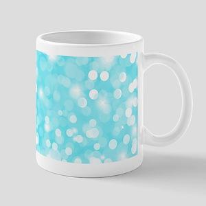 Blue Glitter Mugs