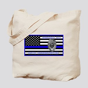 Police Flag-Blue-Respect Until Tote Bag