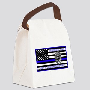 POLICE FLAG-BLUE-RESPECT UNTIL DISRESPECTED Canvas