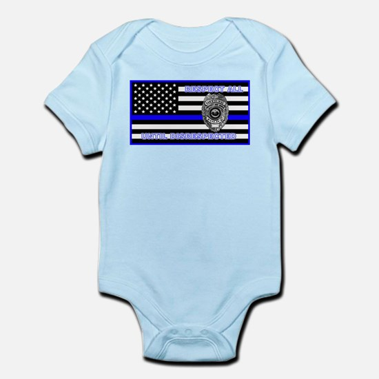 POLICE FLAG-BLUE-RESPECT UNTIL DISRESPECTED Body S