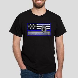 POLICE FLAG-BLUE-RESPECT UNTIL DISRESPECTED T-Shir