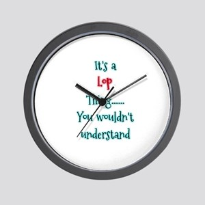 Lop thing Wall Clock