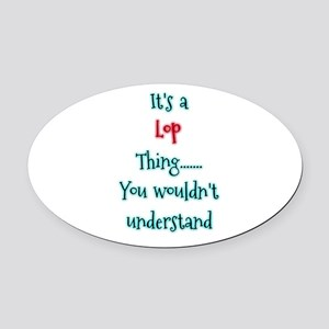 Lop thing Oval Car Magnet