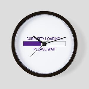 CURIOSITY LOADING... Wall Clock