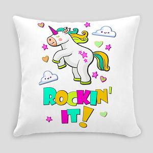 Dancing Unicorn Everyday Pillow