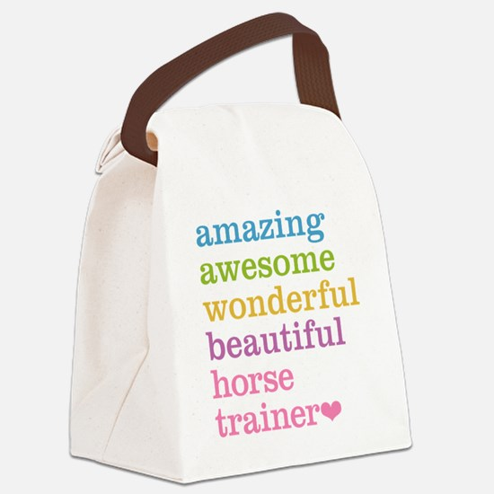 Amazing Horse Trainer Canvas Lunch Bag