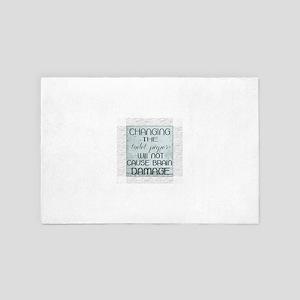 toilet paper humor 4' x 6' Rug