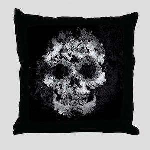 Wet Skull Throw Pillow