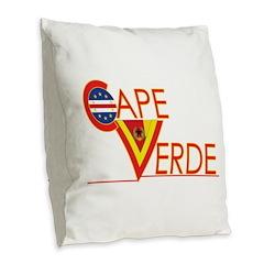 Cape Verde CV Burlap Throw Pillow