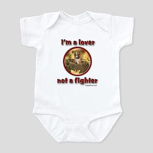 i'm a lover not a fighter Infant Bodysuit