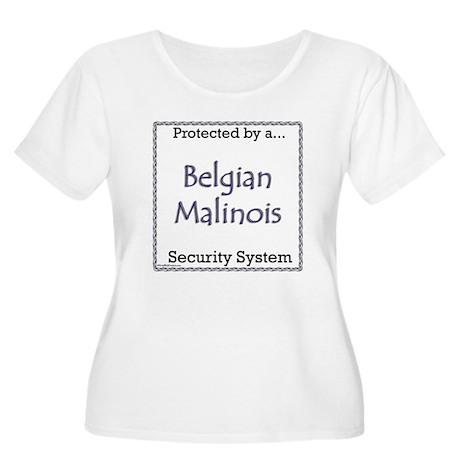Malinois Security Women's Plus Size Scoop Neck T-