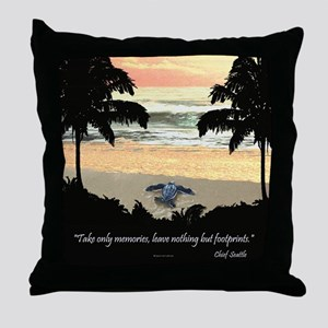 Costa Rica Turtle Hatchling Throw Pillow