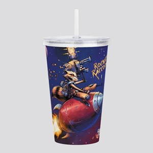 GOTG Comic Rocket Pain Acrylic Double-wall Tumbler