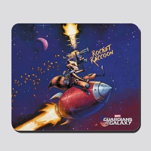 GOTG Comic Rocket Painting Mousepad