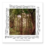 """Woods""&forest Square Car Magnet 3&q"