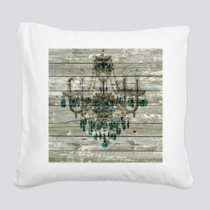shabby chic barn vintage chan Square Canvas Pillow