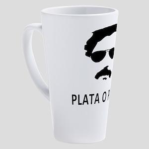 Plata O Plomo 17 oz Latte Mug