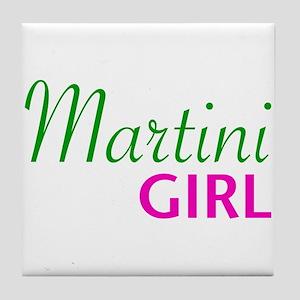Martini Girl Tile Coaster