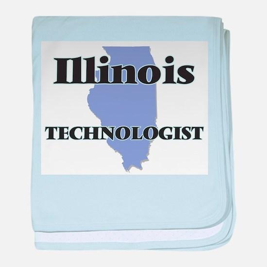 Illinois Technologist baby blanket