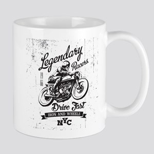 Legendary vintage racers t-shirt label design Mugs