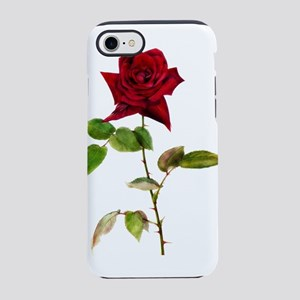 Single Stem Red Rose iPhone 8/7 Tough Case