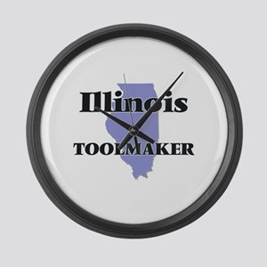 Illinois Toolmaker Large Wall Clock
