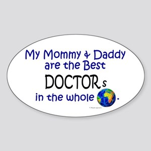 Best Doctors In The World Oval Sticker