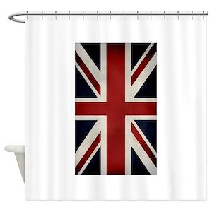 Vintage Union Jack Shower Curtains