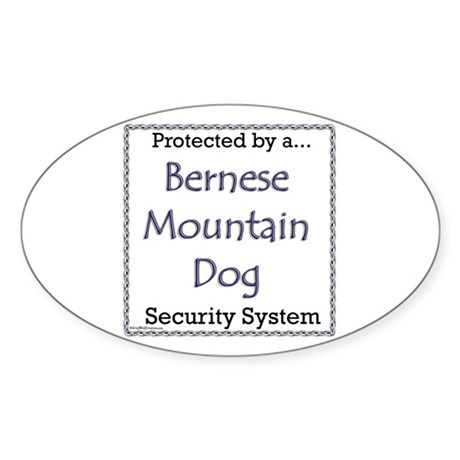 Bernese Security Oval Sticker