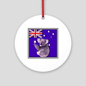 Australia Flag & KOALA Ornament (Round)