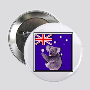 Australia Flag & KOALA Button