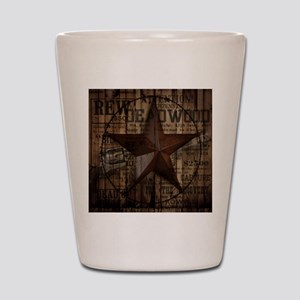 primitive  texas lone star cowboy Shot Glass