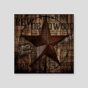 """primitive  texas lone star  Square Sticker 3"""" x 3"""""""